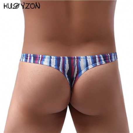 Mens Thongs And G Strings Low Rise Men Sexy Briefs Jockstrap Pouch Cuecas Mesh Underpants Gay Slip Homme String